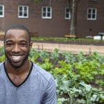 GCF alum Waleik Juneol at NYCHA Farm launch event