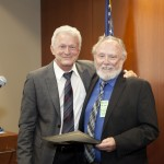 GCF Director of Green City Academy Michael Johnson-Chase and David Hepinstall of AEA, Partner Award Recipient