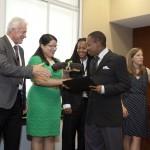 Corps Member Jerrell Eldridge Receives Graduation Certificate