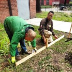 GCF & NYCHA Partners Construct a Raised Bed
