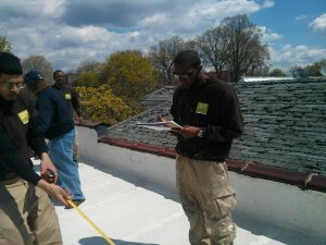 CMs at TL Lawrence's houses for roof survey